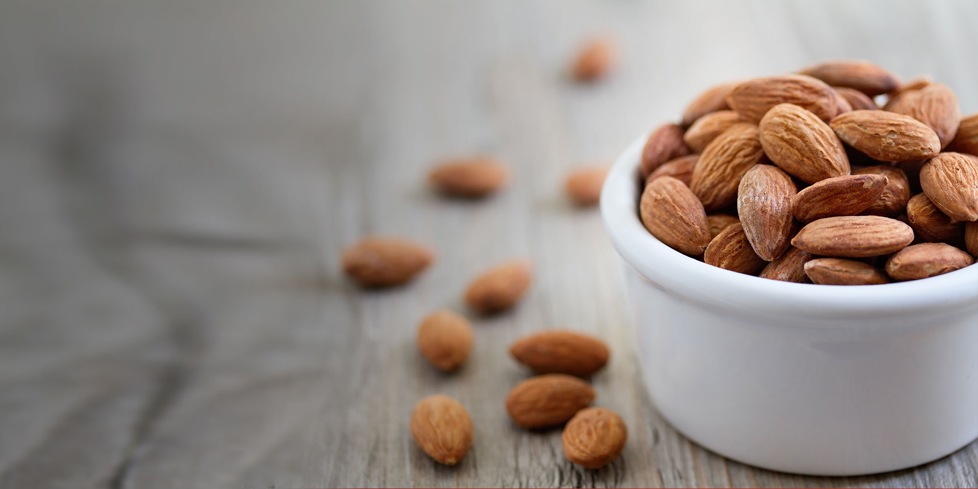 Healthy bowl of nutritious almonds